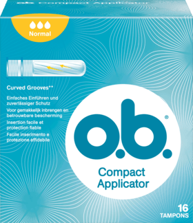 O.B. tampóny Compact Applicator Normal, 16 ks