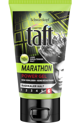 3 WETTER TAFT stylingový gel Power Marathon Radikaler Halt, 150 ml