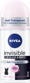 NIVEA deo roll on Black & White clear, 50 ml