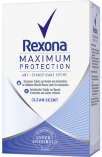 REXONA deo krém Maximum Protection Clean Scent, 45 ml