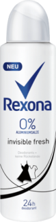 REXONA deo sprej Invisible 0%, 150 ml