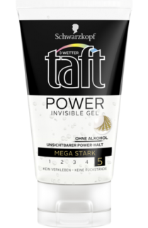 3 WETTER TAFT stylingový gel Power Invisible Mega stark, 150 ml