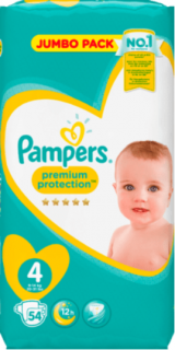 PAMPERS Baby Dry, velikost 4 Maxi, 9-14 kg, Sparpack, 54 ks
