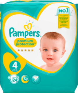 PAMPERS Baby Dry, velikost 4 Maxi, 9-14 kg, Sparpack, 24 ks