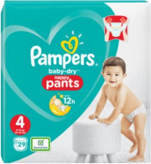 PAMPERS Pants Baby-Dry, Größe 4, Maxi, 8-15 kg, 29 St