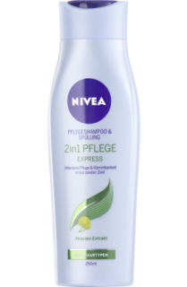 NIVEA šampon a kondicionér 2 in 1 Pflege Express, 250 ml